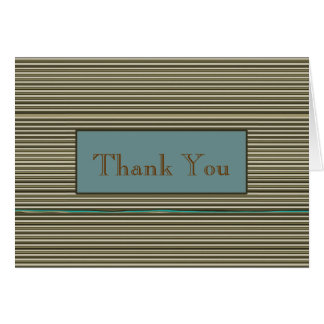 Pin Stripes Business Thank You Note Card