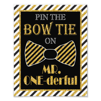 "Pin the Bow Tie on Mr. ONE-derful - 8"" x 10"" Print"
