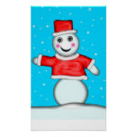 Pin The Nose on The Snowman Game Print