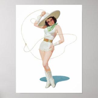 Pin Up Girl #7 @ GarysRetroGarage Poster