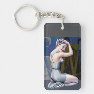 Pin-Up Girl Illustration Keychains