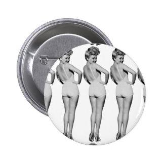 Pin-Up Girl Retro Vintage Bathing Suit Blonde 6 Cm Round Badge