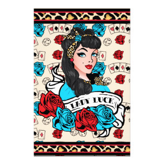 Pin-up Girl, Rock-A-Billy Stationery Paper