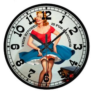Pin-Up Girl Wall Clock