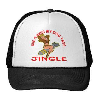 Pin Up She Makes My Dog Tags Jingle Cap