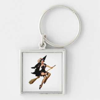 Pin-Up Witch Key Ring