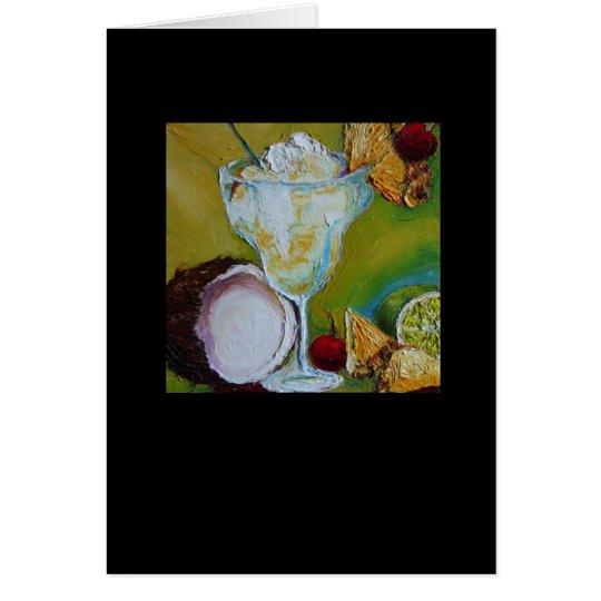 Pina Colada Greeting Card