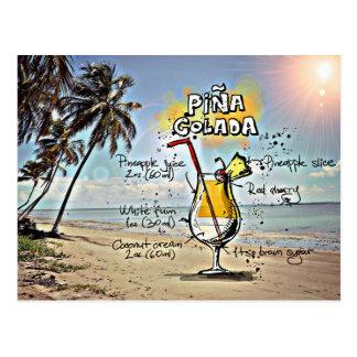 Pina Colada Postcard