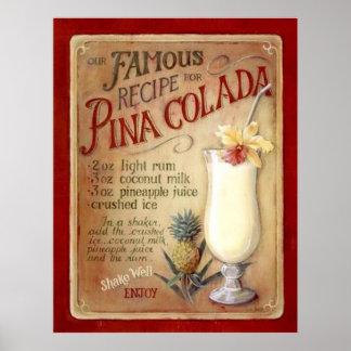 Pina colada recipe poster