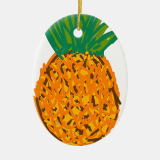 pina fruta pineapple ceramic ornament