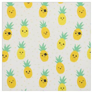 Pinapple pirates tropical summer fabric