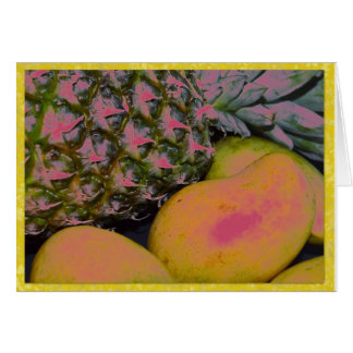 Pinapples and mangoes card