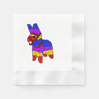 Piñata Cartoon Mexico Fiesta Horse Paper Napkins