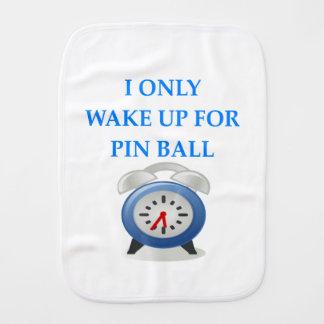 PINBALL BURP CLOTH