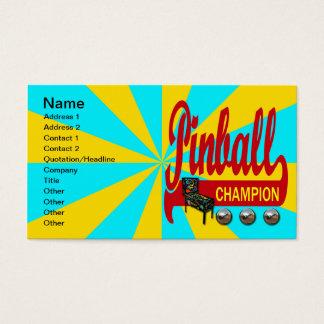 Pinball Champion Business Card