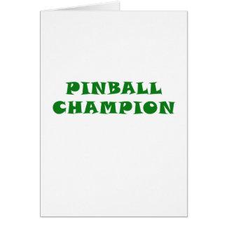 Pinball Champion Card