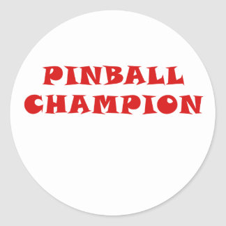 Pinball Champion Classic Round Sticker
