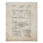 Pinball Game Patent - Old Look Poster