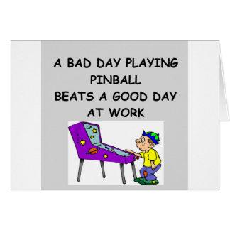 PINBALL joke Card