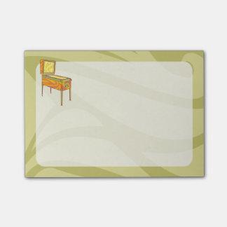 Pinball machine post-it notes