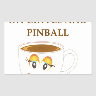 PINBALL RECTANGULAR STICKER