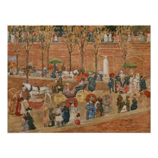 Pincian Hill, Rome by Maurice Prendergast Poster