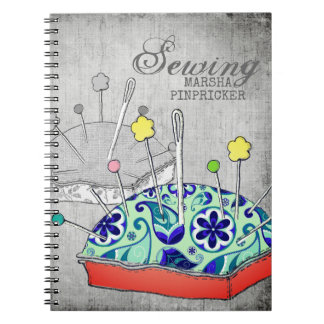 Pincushion paisley sewing craft ideas notebook