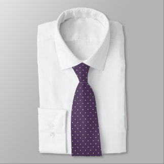 pindots on trendy purple plum or ANY color Tie