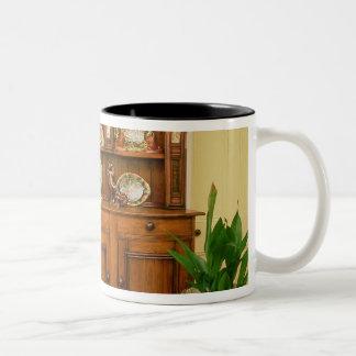 Pine and cedar dresser Two-Tone mug