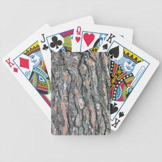 Pine bark pattern bicycle playing cards