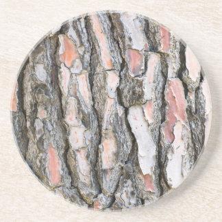 Pine bark pattern coaster