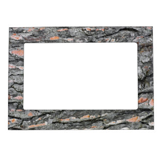 Pine bark pattern magnetic picture frame