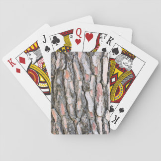 Pine bark pattern playing cards