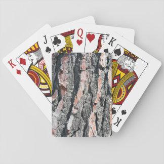 Pine bark pattern playing cards