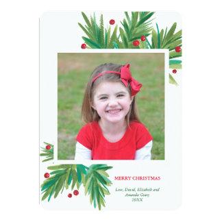 Pine & Berries Watercolor | 2016 Christmas Card