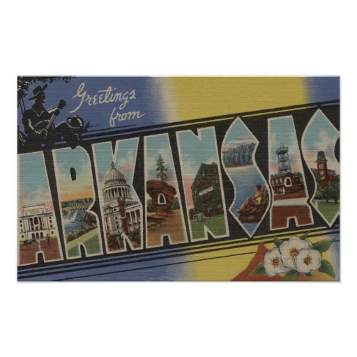 Pine Bluff, Arkansas - Large Letter Scenes Poster