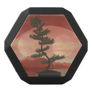 Pine bonsai - 3D render Black Bluetooth Speaker