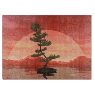 Pine bonsai - 3D render Cutting Board