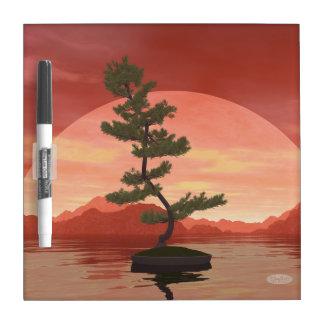 Pine bonsai - 3D render Dry Erase Board