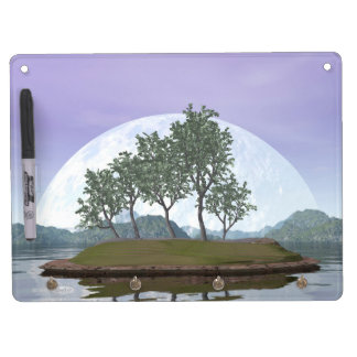 Pine bonsai - 3D render Dry Erase Board With Key Ring Holder