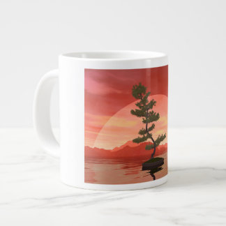 Pine bonsai - 3D render Large Coffee Mug