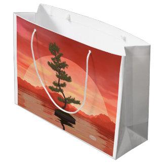 Pine bonsai - 3D render Large Gift Bag