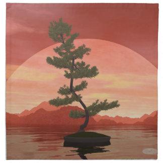 Pine bonsai - 3D render Napkin