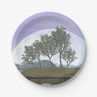 Pine bonsai - 3D render Paper Plate