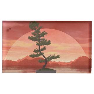 Pine bonsai - 3D render Place Card Holder