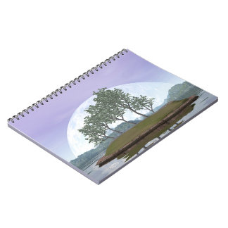 Pine bonsai - 3D render Spiral Notebook