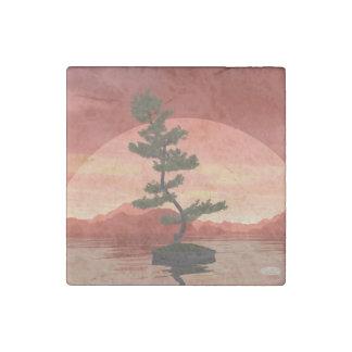 Pine bonsai - 3D render Stone Magnet
