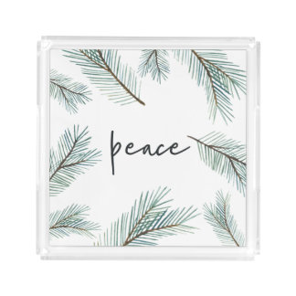 Pine Boughs | Holiday Acrylic Tray