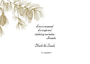 Pine Needles Wedding Cards & Invitations | Zazzle.com.au
