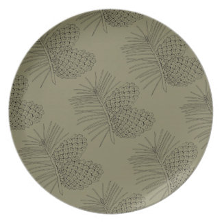 Pine Branch Two Dinner Plates